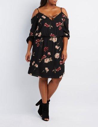 CR Cold SHoulder Dress