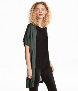 hm green short sleeve cardigan.jpg