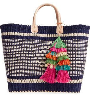 Mar Y Sol Ibiza Woven Tote with Tassels